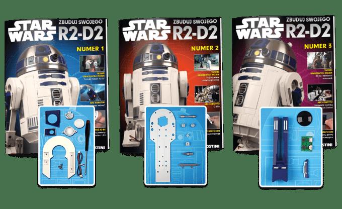 Pierwsze 3 numery magazynu kolkcjonerskiego z częściami robota R2-D2