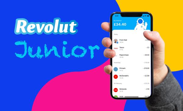 Revolut Junior z kartą do wydawania kieszonkowego dla dzieci!