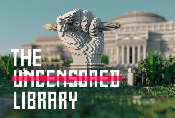 """Powstała cyfrowa biblioteka """"bez cenzury"""" w grze Minecraft"""