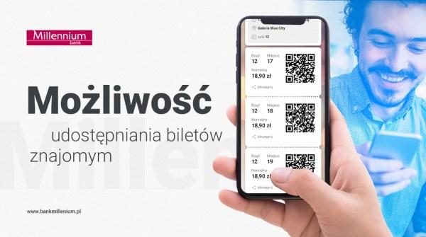 Bilety do kin Helios w aplikacji mobilnej Banku Millennium