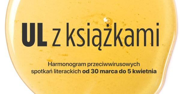 """Harmonogram spotkań literackich z cyklu """"UL z książkami"""" (29.03-5.04)"""