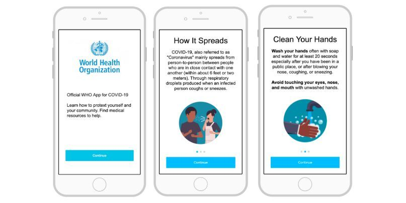 WHO - aplikacja mobilna COVID-19