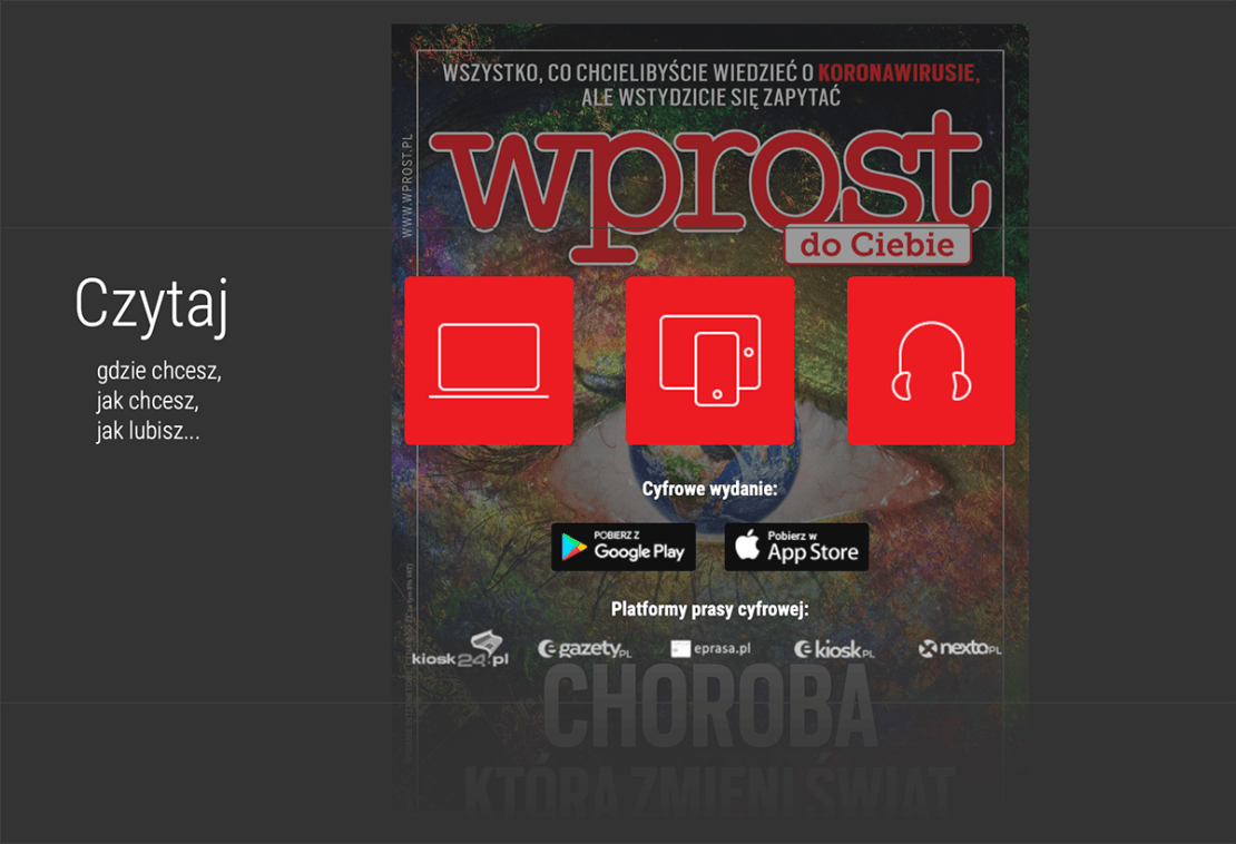 Tygodnik Wprost tylko w formie e-wydania od kwietnia 2020 r.