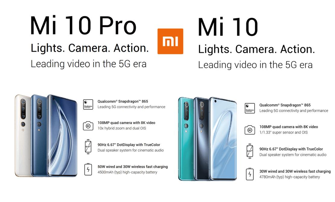 Smartfony Xiaomi Mi 10 i Mi 10 Pro