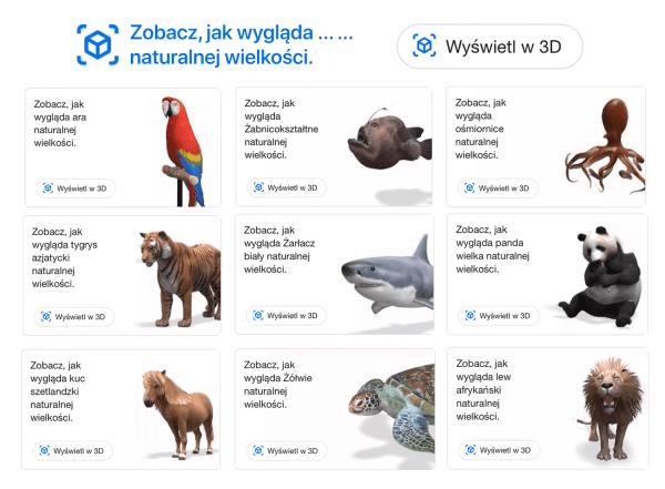 Zwierzęta naturalnej wielkości w Twoim pokoju z Google 3D