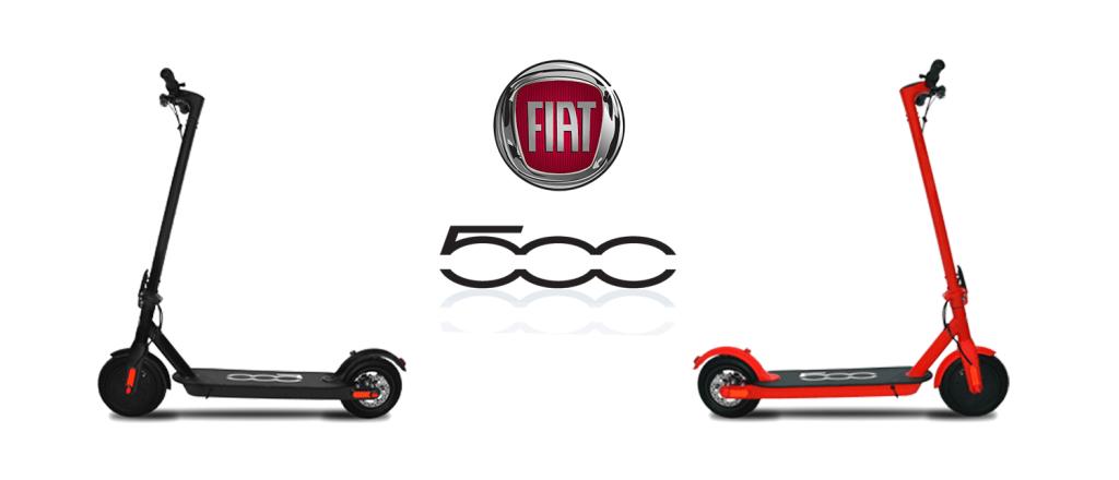 E-hulajnoga Fiat F500-F85W - czarna i czerwona (300 W)
