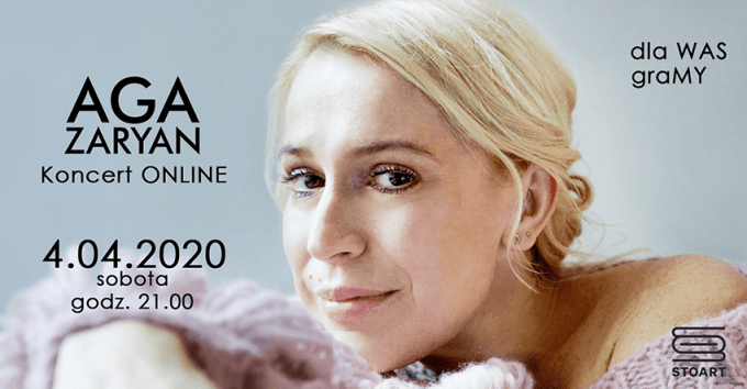 Aga Zaryan - koncert online 4 kwietnia 2020 r.