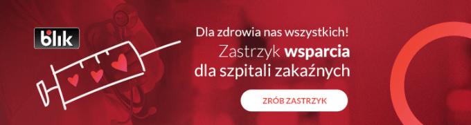 """""""Zrób zastrzyk wsparcia BLIKIEM"""" - banner"""