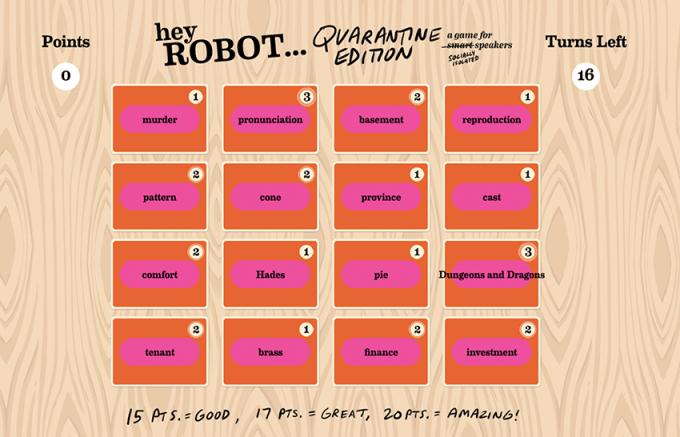 """Ekran z cyfrowej wersji gry """"Hey Robot Quarantine Edition"""""""