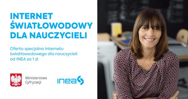 INEA także oferuje szybki internet dla nauczycieli za 1 zł!