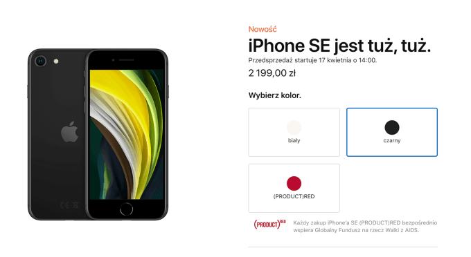iPhone SE 2 - cena