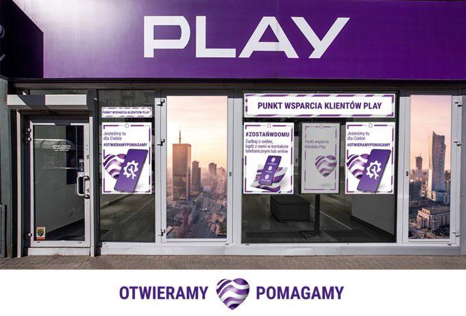 punkt wsparcia klienta Play – #OtwieramyPomagamy