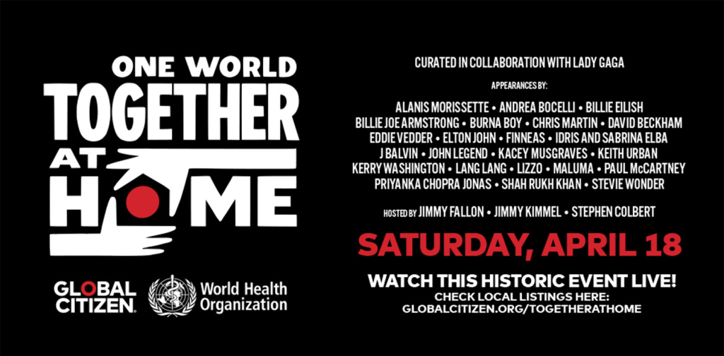 """Szczegółowe informacje o wydarzeniu: """"One World: Together at Home"""""""