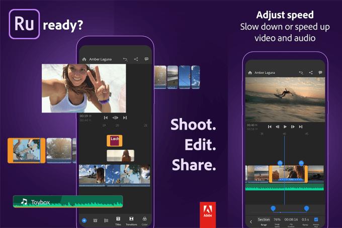 Adobe Premiere Rush - aplikacja mobilna