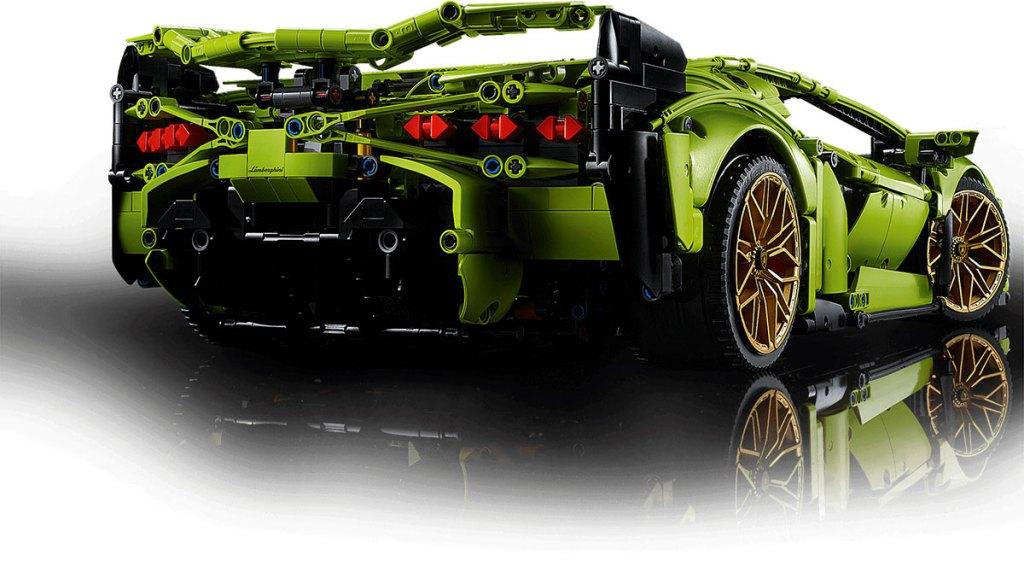 LEGO® Technic™ Lamborghini Sián FKP 37 z tyłu