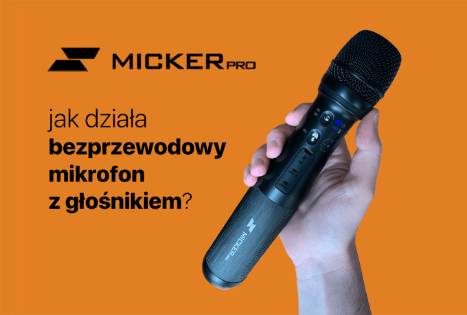 Jak działa bezprzewodowy mikrofon z głośnikiem Avtek Micker PRO?