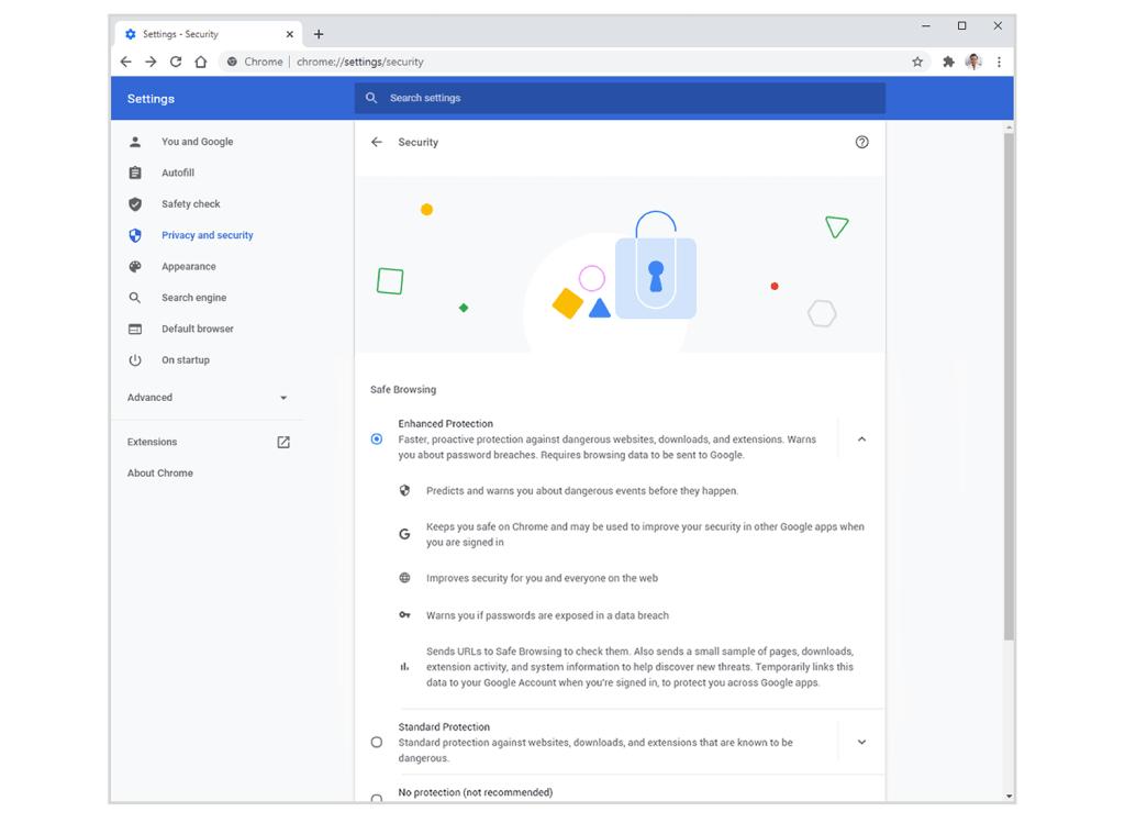 Bezpieczne przeglądanie - Chrome (maj 2020)