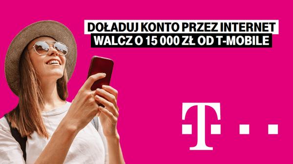 Doładuj numer przez internet w T-Mobile i zgarnij nagrodę