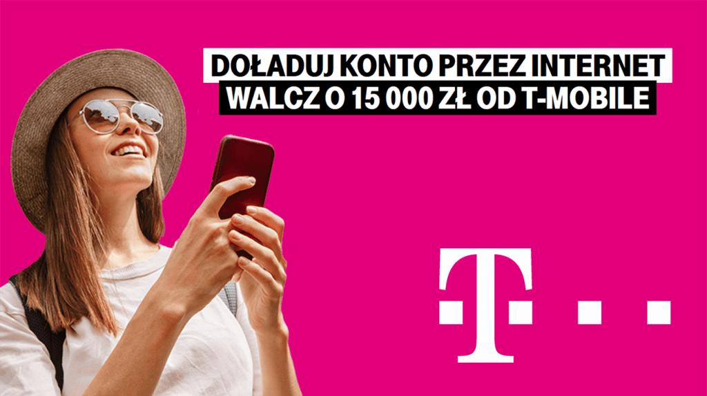 Konkurs T-Mobile: Doładuj konto przez internet w T-Mobile i zgarnij nagrodę (maj 2020)