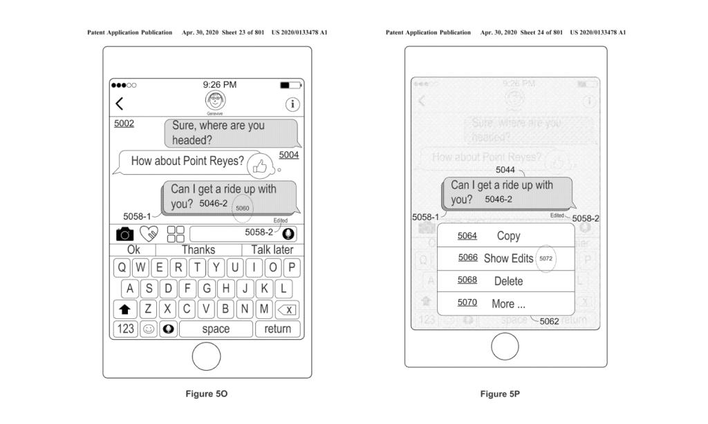 Patent Apple: Edycja wysłanych wiadomości w iMessage