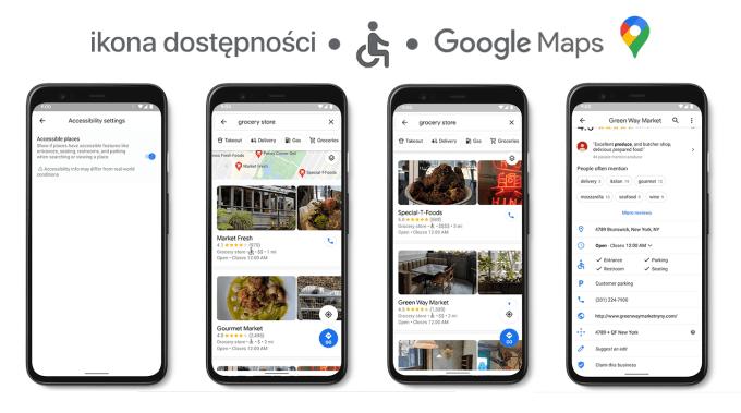Ikona/tryb dostępności Google Maps