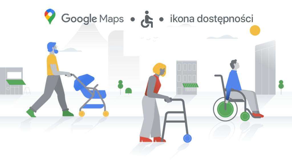 Ikona dostępności w Mapach Google'a