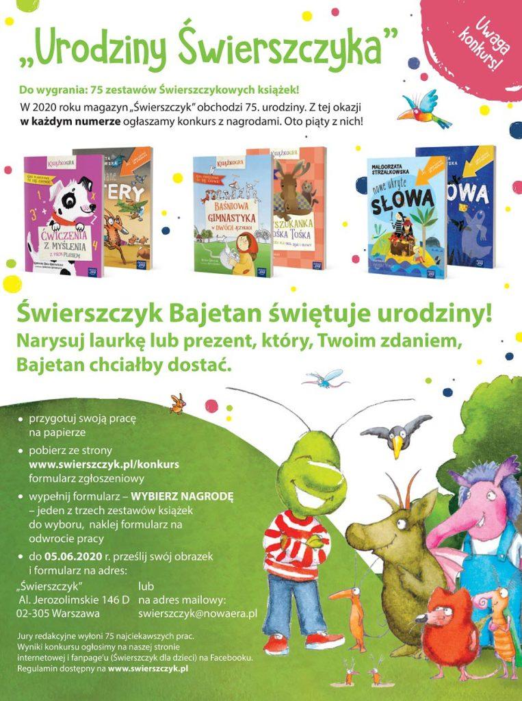 """Konkurs """"Urodziny Świerszczyka"""" (5/2020)"""