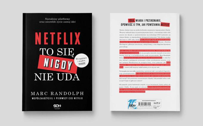 """Okładka książki """"Netflix. To się nigdy nie uda""""(przód i tył)"""
