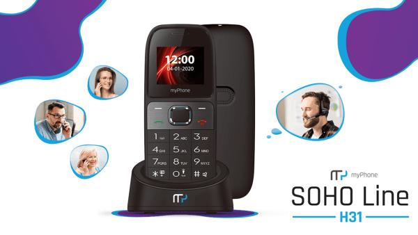 SOHO Line H31 telefon stacjonarny na kartą SIM od myPhone