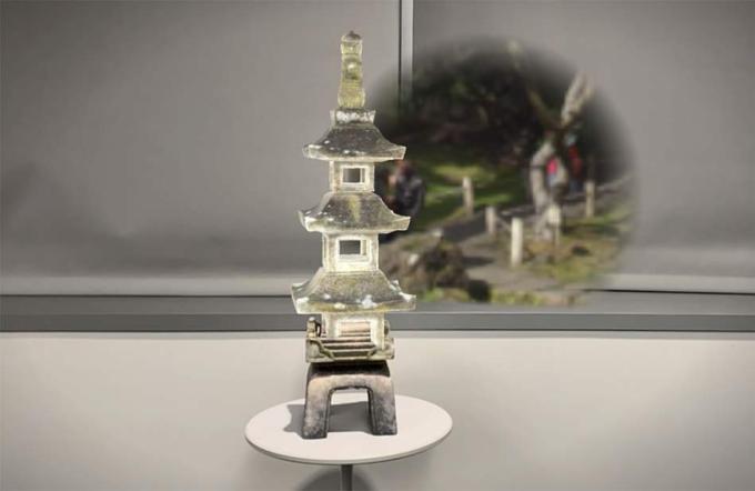 Wieża Pagoda w AR w systemie iOS 14