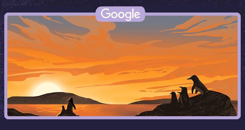 Pingwin równikowy zamieszkujący wyłącznie Wyspy Galápagos (Google Doodle)