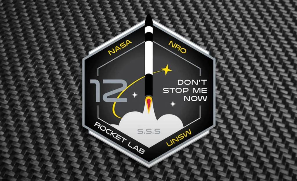 "Plakietka Rocket Lab 12. ""Don't Stop Me Now"""
