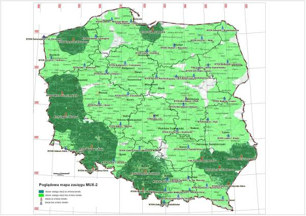 Mapa: MUX2 - refarming (etap 2)