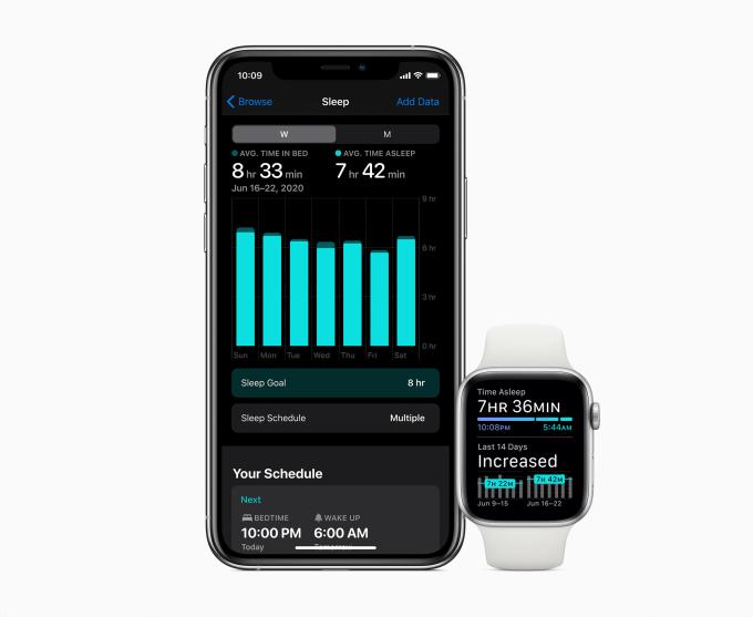 Apple Watch (watchOS 7) - aplikacja Sen