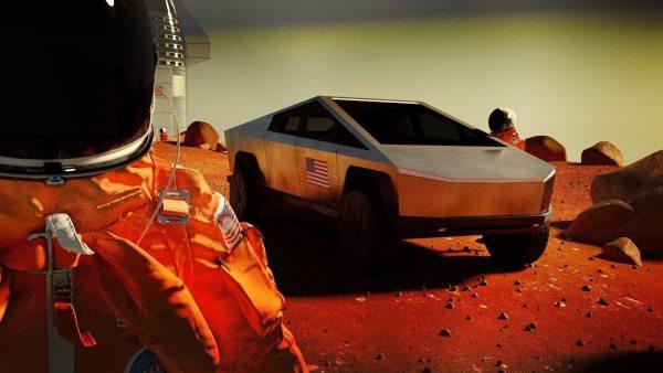 Tak mógłby wyglądać marsjański Cybertruck Tesli!