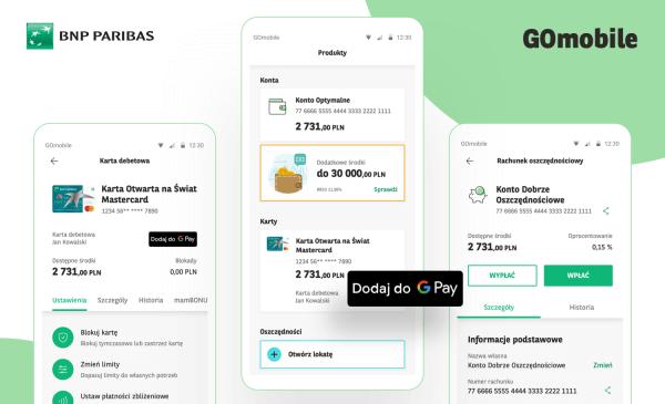 Aplikacja GOmobile od BNP Paribas z nowym interfejsem!