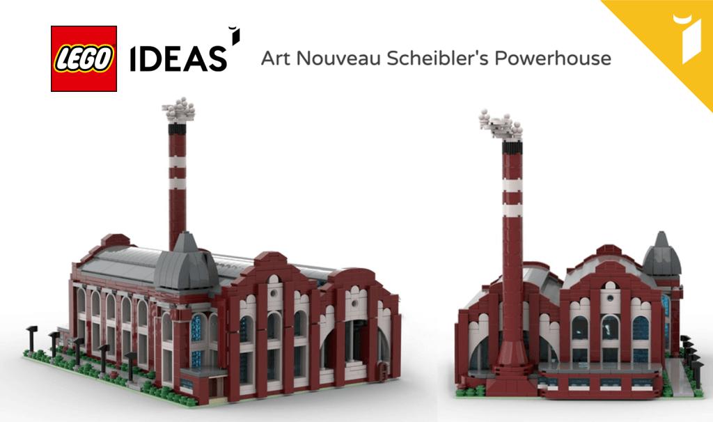 LEGO IDEAS – Projekt miniaturowej Elektrowni Scheiblera z klocków LEGO® (Michał Duda, Łódź, Polska)