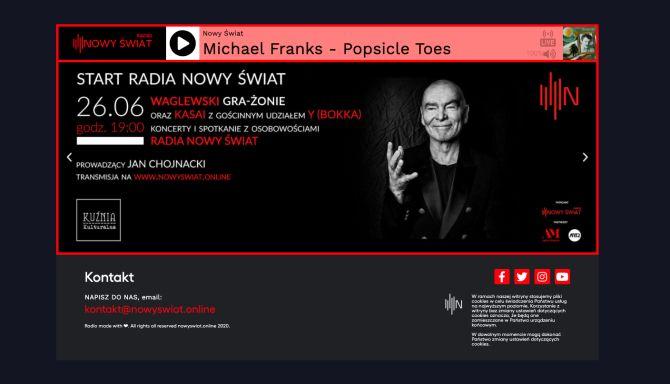 Radio Nowy Świat Online (screen z 26 czerwca 2020 r.)