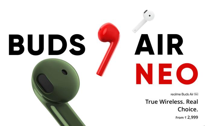Douszne słuchawki bezprzewodowe realme Buds Air Neo