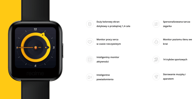 Najważniejsze funkcje zegarka realme Watch
