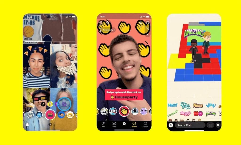 Snapchat - nowe funkcje i aplikacje Minis