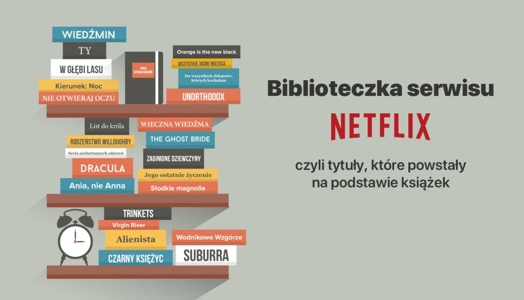 Biblioteczka Netflix – czyli tytuły, które powstały na podstawie książek