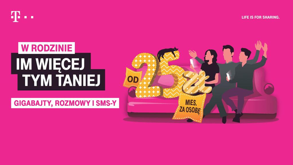 """""""W rodzinie im więcej, tym lepiej"""" – nowa kampania T-Mobile"""