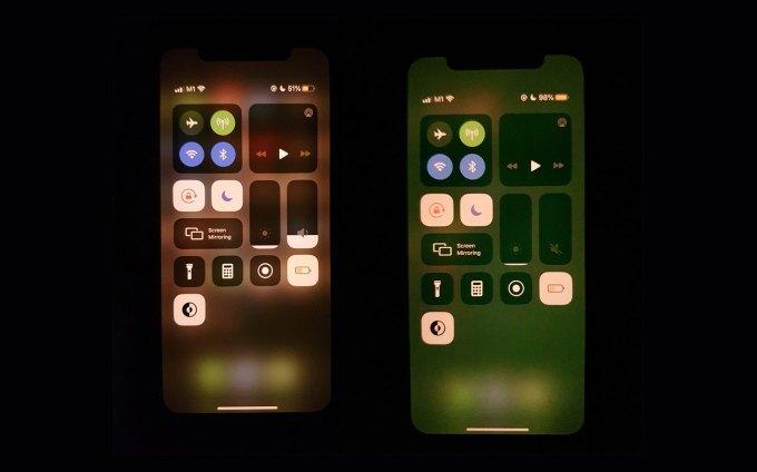 Zielony odcień na wyświetlaczach iPhone'a 11 (Pro, MAx) z systemem iOS 13.5.1