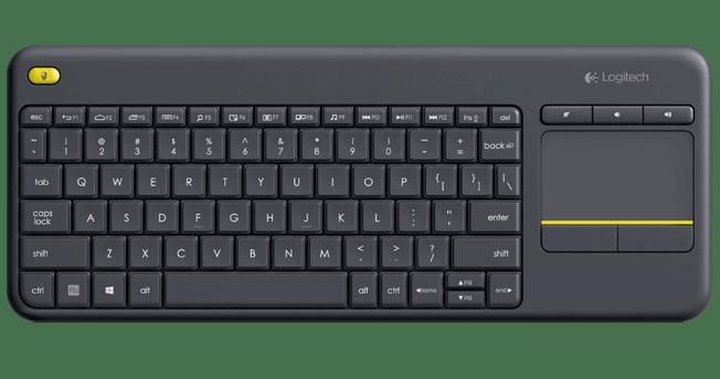 Klawiatura Logitech K400 Plus z touchpadem (kolor czarny)