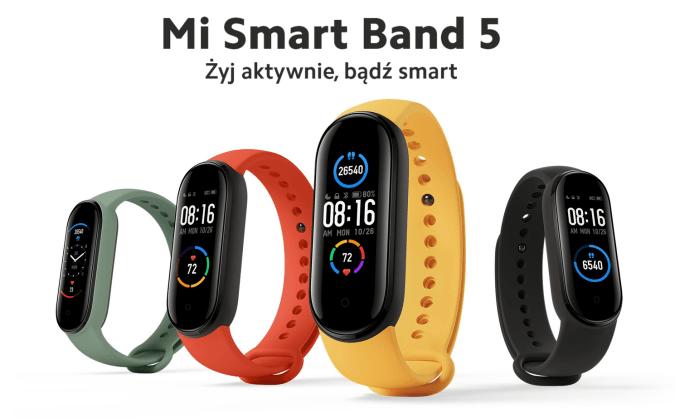 Opaska Mi Smart Band 5 (Żyj aktywnie, bądź smart)