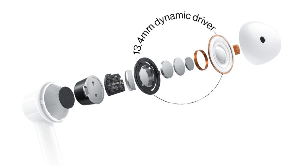 Budowa słuchawek bezprzewodowych OnePlus Buds