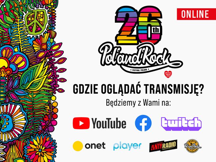 Gdzie oglądać transmisję online z 26. Pol'and'Rock Festival?