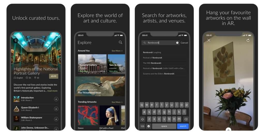 Zrzuty ekranu z aplikacji Smartify