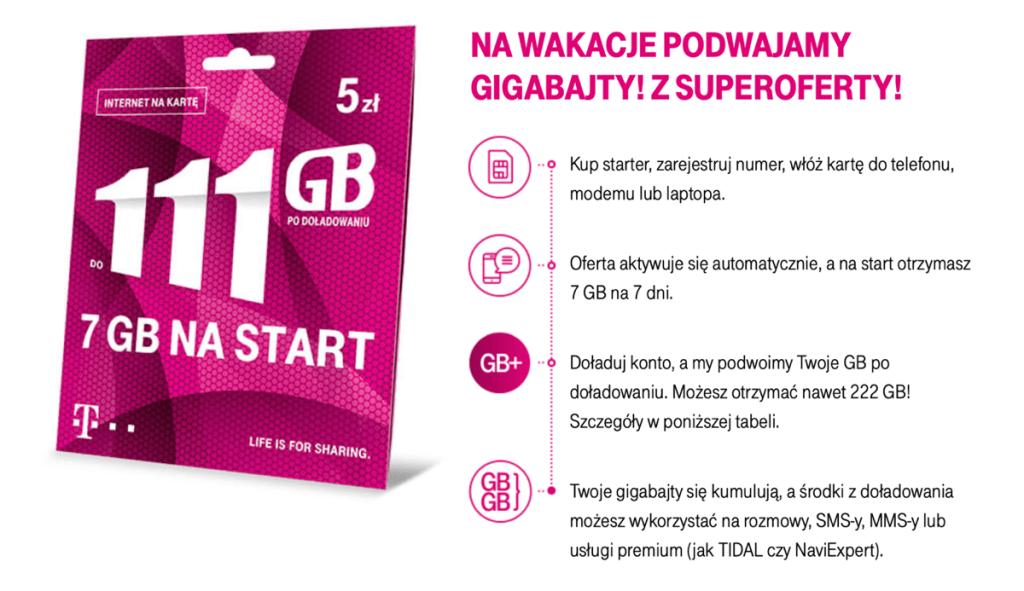 Nawet 222 GB po doładowaniu w T-Mobile